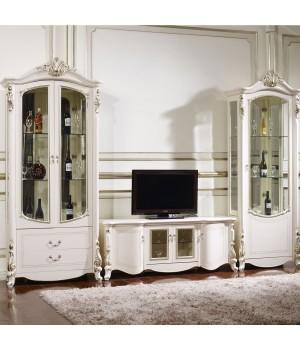 Гостиная  Афина белая с золотом (AFINA)