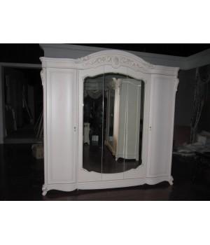 Шкаф 5 дв. Афина белая с жемчугом (AFINA)
