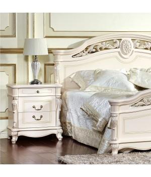 Кровать 180x200 Афина белая с жемчугом (AFINA)