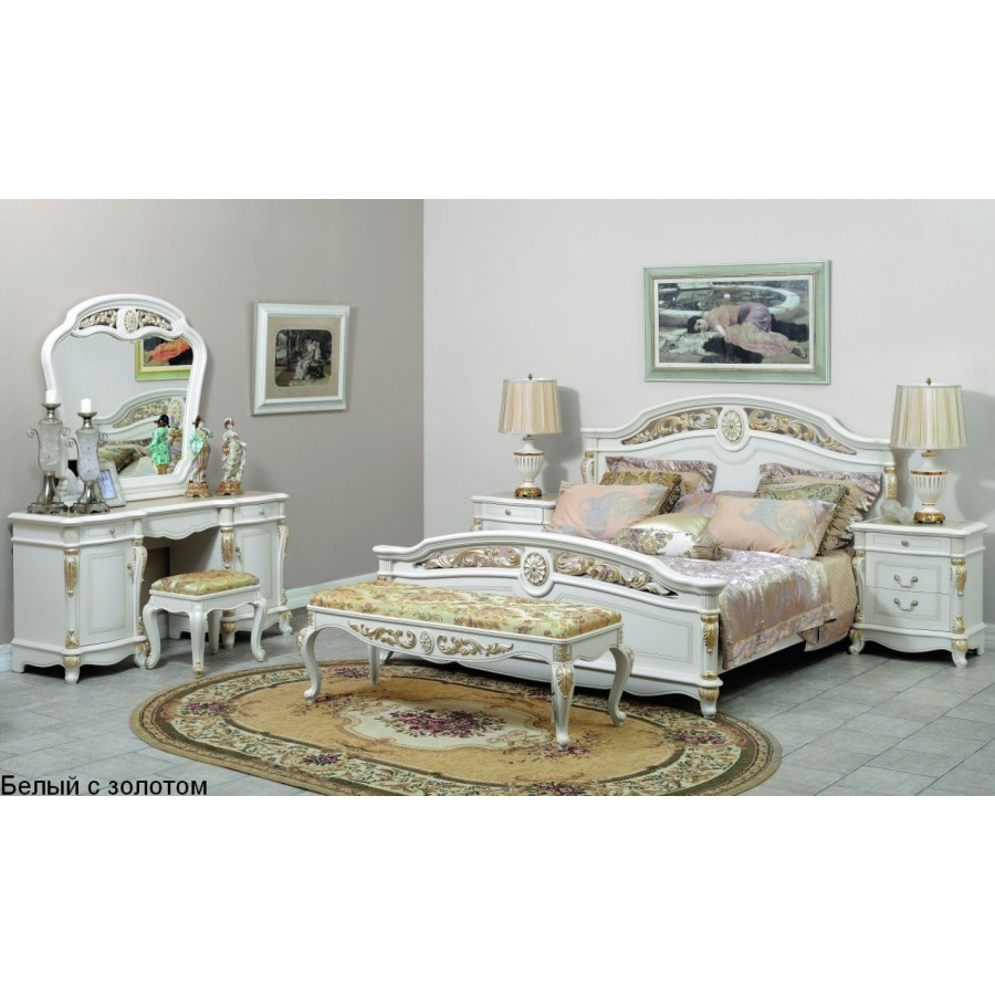 Афина белая с жемчугом (AFINA) Спальня