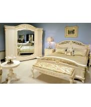 Кровать 180x200 Афина белая с золотом (AFINA)