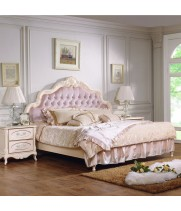 Кровать 1,8*2,0 м с/л бежевая ткань, изголовье В Аврора (Aurora)